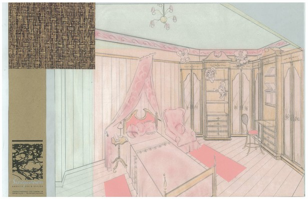 Girl's Bedroom | Interior Hand-Sketch