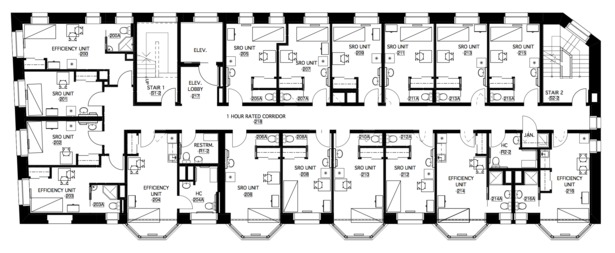 second (typical) floor plan
