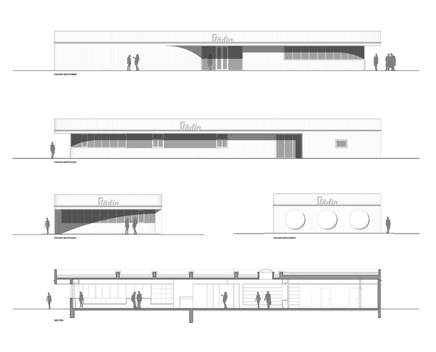 Facades & section
