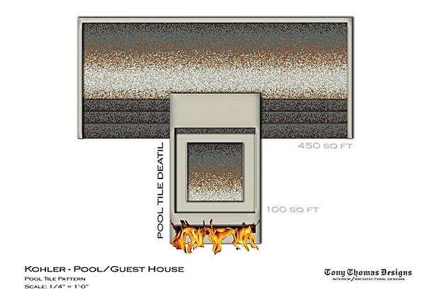 KOHLER GUEST/POOL HOUSE - POOL CONCEPT