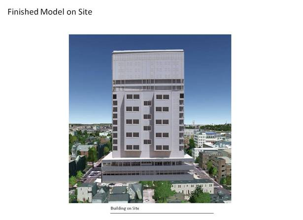 Final Laser Model on site, Photoshop