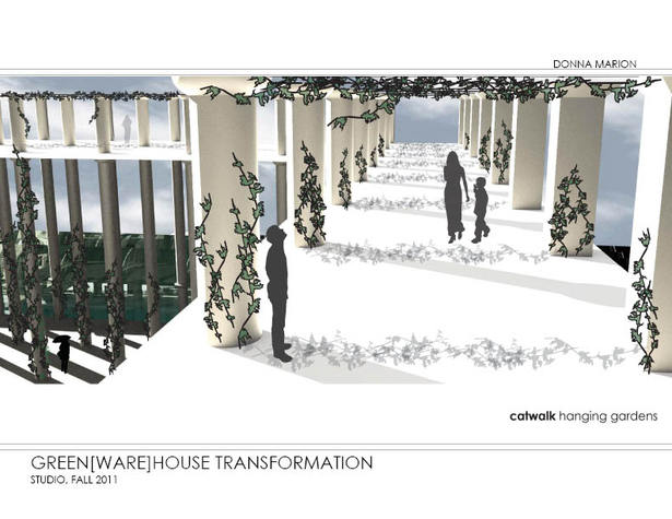 Greenhouse - upper garden rendering