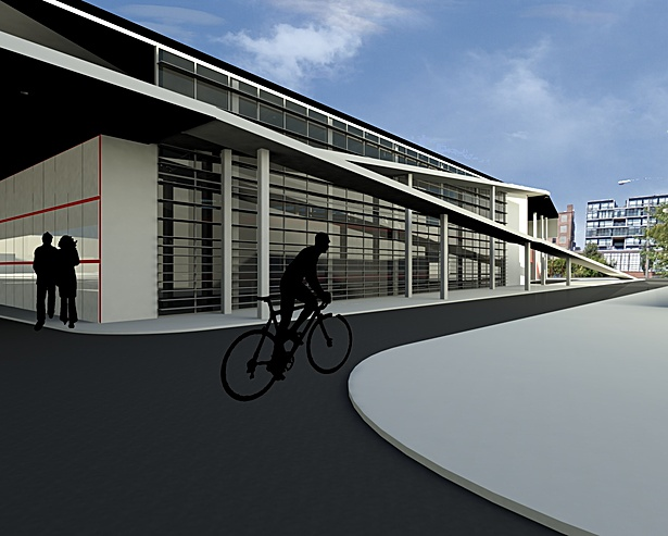 Under Train Overpass