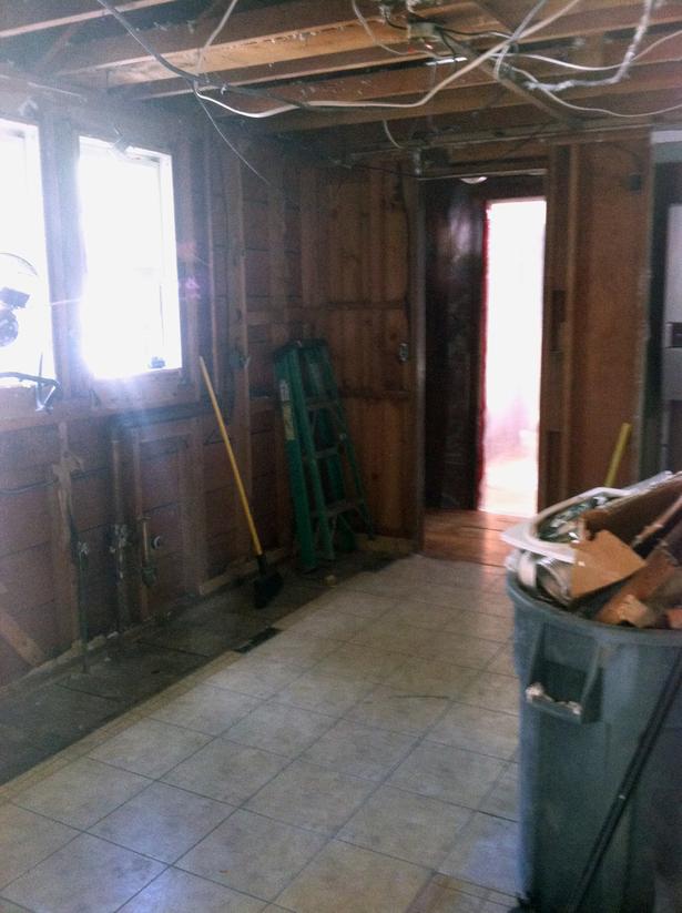 Kitchen mid-renovation