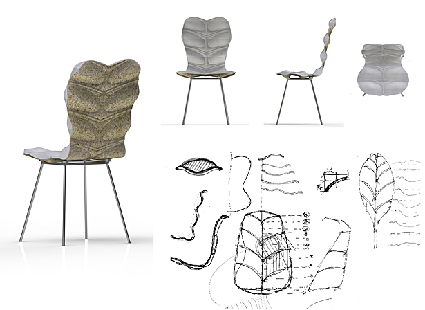 Fogalime - Compression Molded Hemp Hurd Shell Chair
