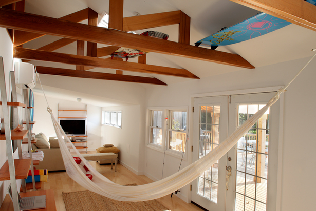 Hammock adds a playful touch to living room