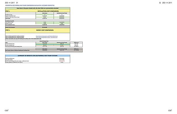 Geothermal and Heat Pump Comparison