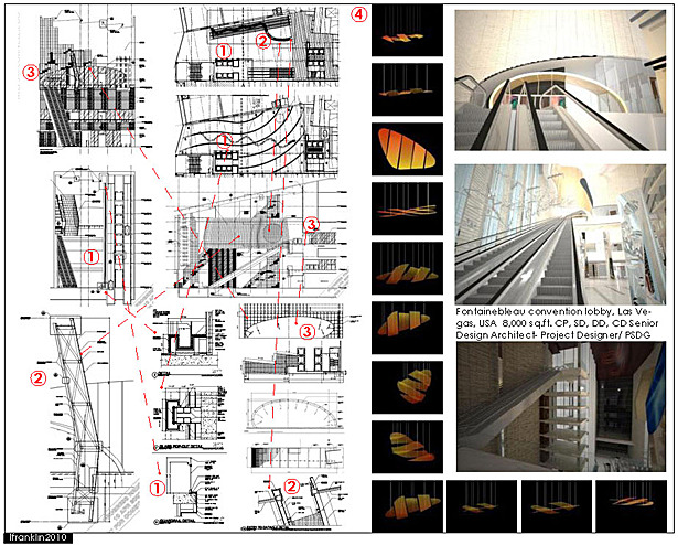 Fontainebleau convention lobby, Las Vegas, USA 8,000 sq.ft. CP, SD, DD, CD Senior Design Architect- Project Designer/ PSDG