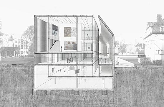 Kunst museum richard meier studio alan knox archinect for Design museum frankfurt