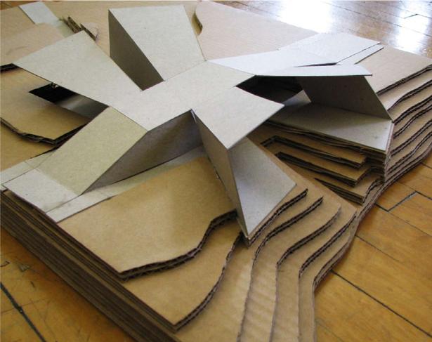 process model (cardboard, chipboard)