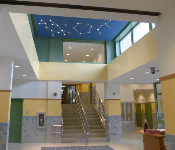 Double height lobby