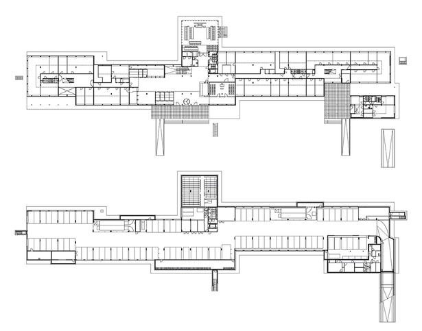 Claus en Kaan Architecten / Basement and Ground Floor plans