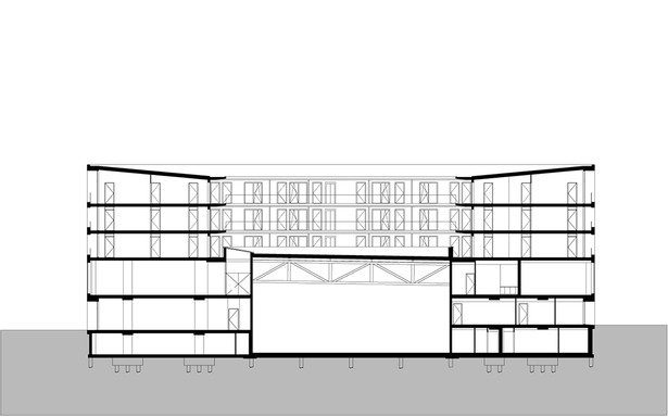 Claus en Kaan Architecten / Cross section