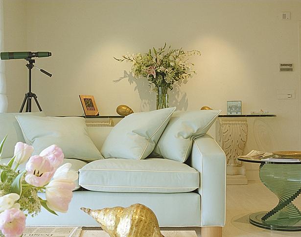 Mint sofa.