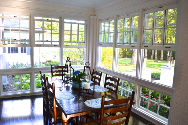 Enclosed Porch Dining Area