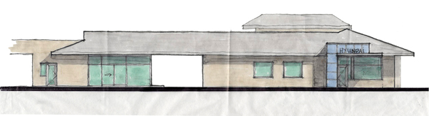 Hand Sketch of Proposed South Building Elevation