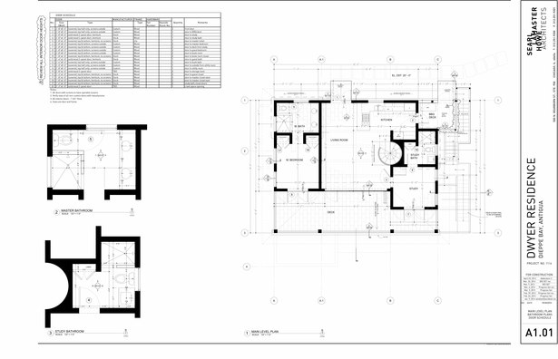 Dwyer Residence - Main Level Plan