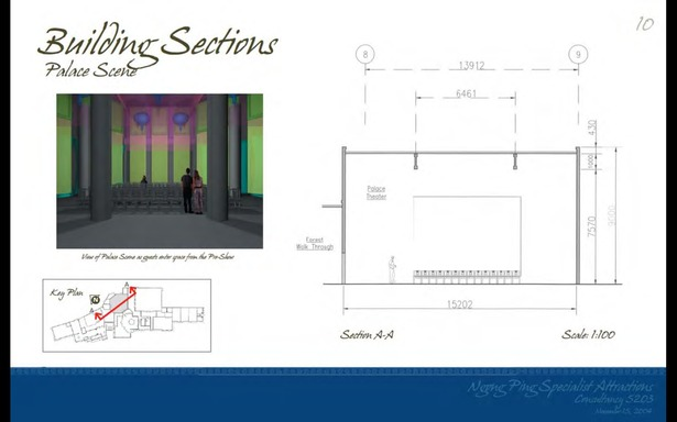 Schematic Design - Building Section Palace Scene