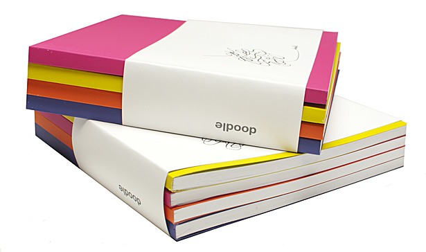 Sketchbook: Doodle Series ( a set of 4 brightly colored sketchbooks)
