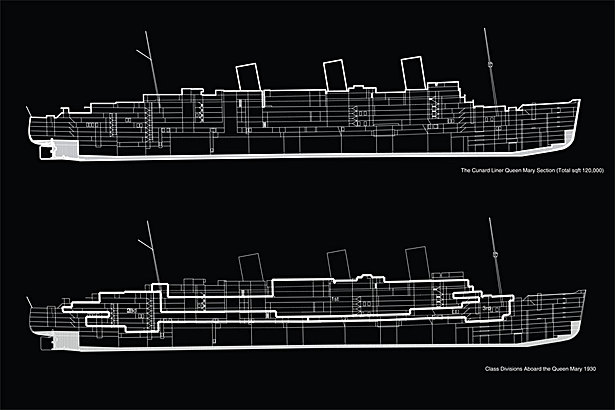 Sectional Diagram of Queen Mary