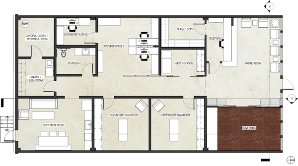 Rendered Floor Plan.