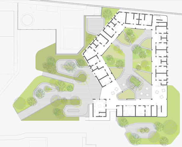 Ground Floor Plan with Site