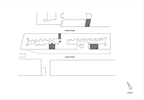 Claus en Kaan Architecten / Site plan with the four buildings