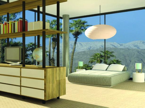 Guest Room (3Dmax rendering)