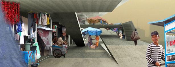 vertical kampung / vertival street system
