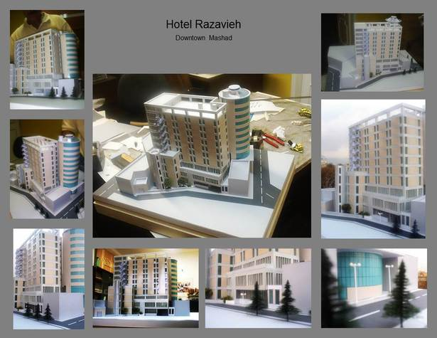 Existing and extension design of Hotel Razavieh model