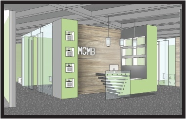 'MGMB' Reception SketchUp Render