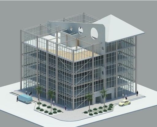 Retail/Office design proposal (MIami, Fl.): rendering