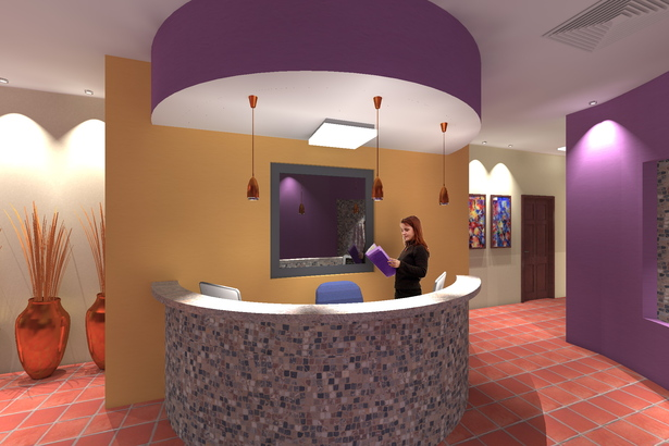 Interior Reception Desk.
