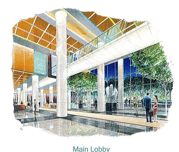 Main Entrance Lobby Interior Plan