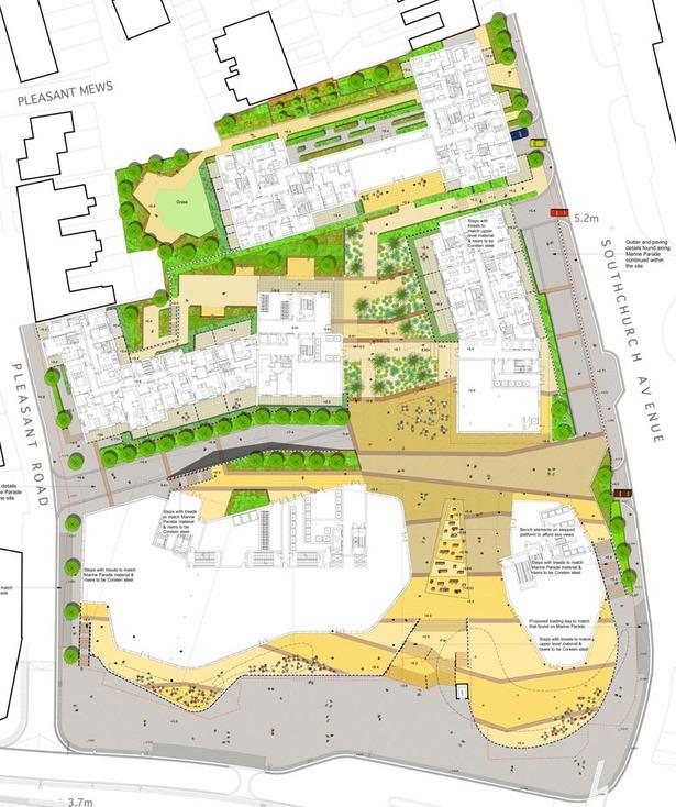 Marine Plaza Mixed Use Landscape Plan