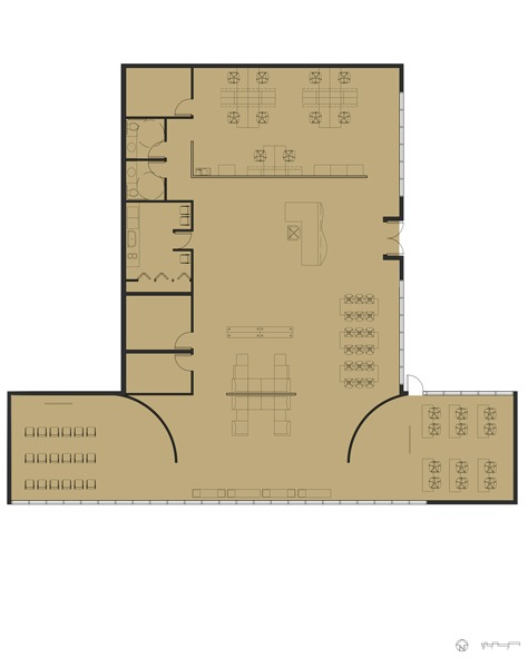 Progression Meeting Space Floor Plan: AutoCAD, Adobe Photoshop