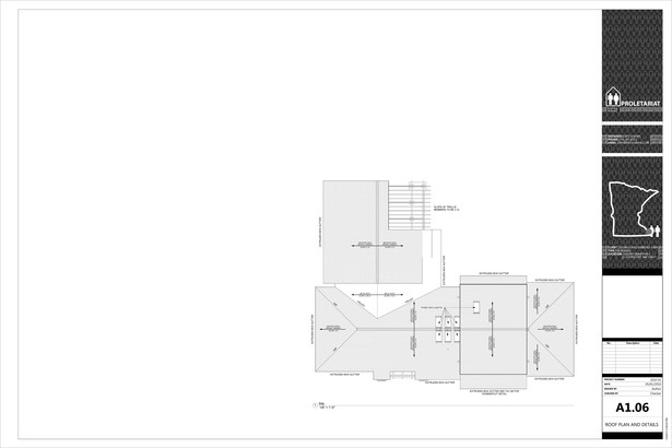 Karr Residence. Construction Drawings. Roof Plans.