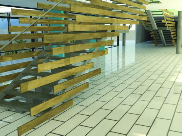 Stairs (3Dmax rendering)