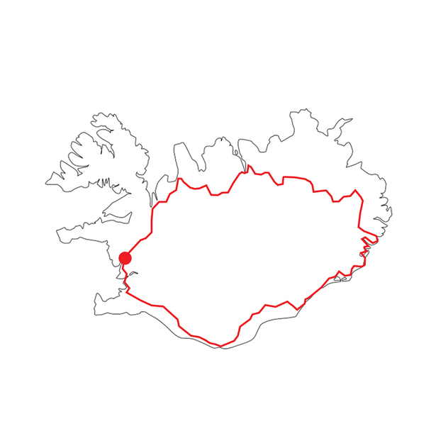Location along Route 1 in Iceland