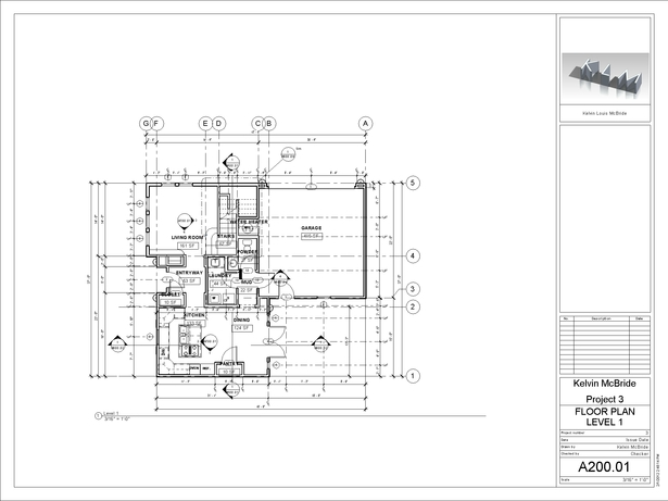 A200-01 - Floor Plan Level 1