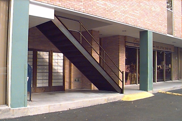 BEFORE - Side Entrance and Stair