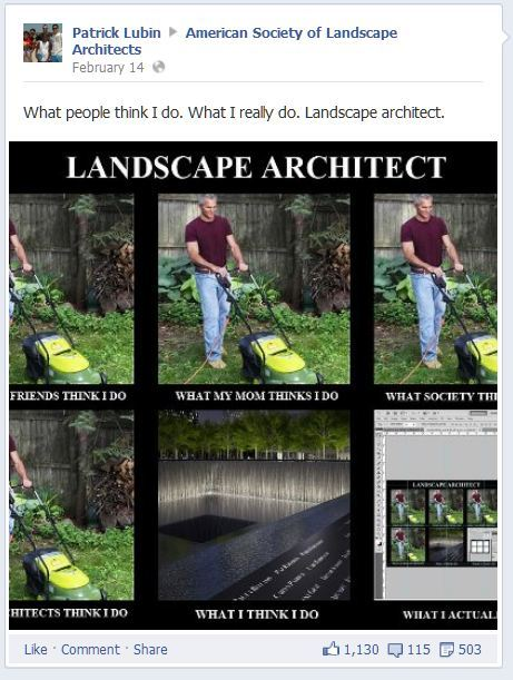 What do landscape architects do front garden tractor for What do landscape architects do