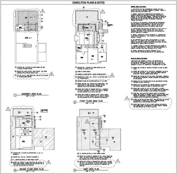 Denville Residence - Demo Plans & Notes