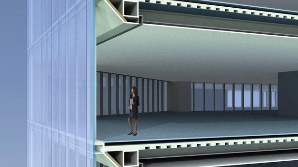 Tian Long Fortune Center, 3D section by John Portman & Associates