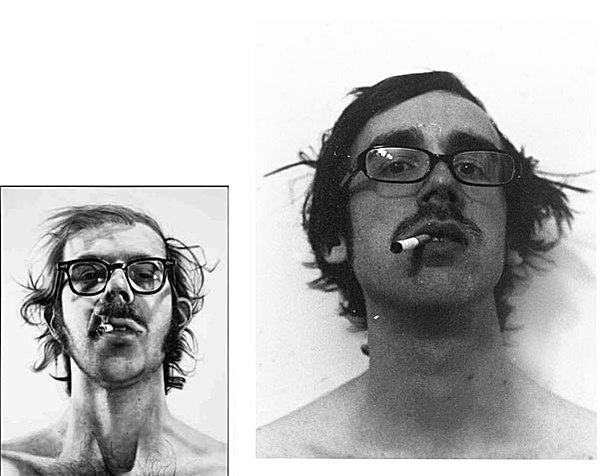 Chuck Close portrait, Brandon Peterson