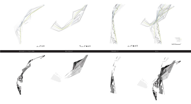 Decoding spaces based on movement and materiality