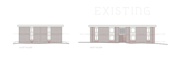 Existing South & West Elevations