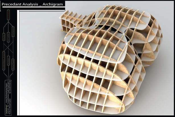 Formal Inspiration_archigram study model rendering