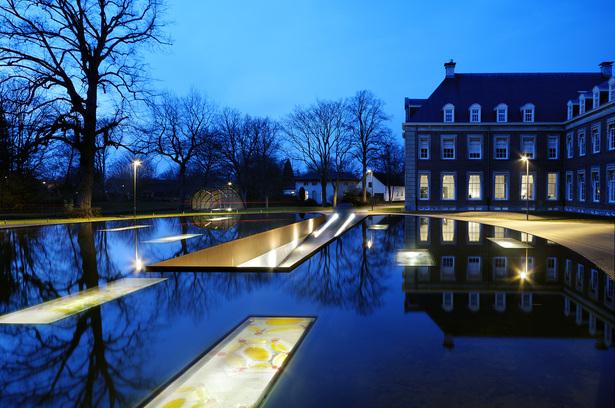 Hageveld Estate ornamental pond with glass panels