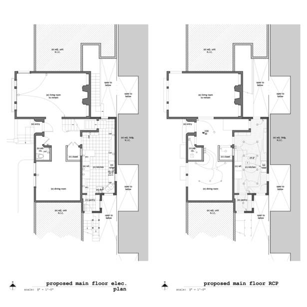 Existing & Proposed Main Floor RCP